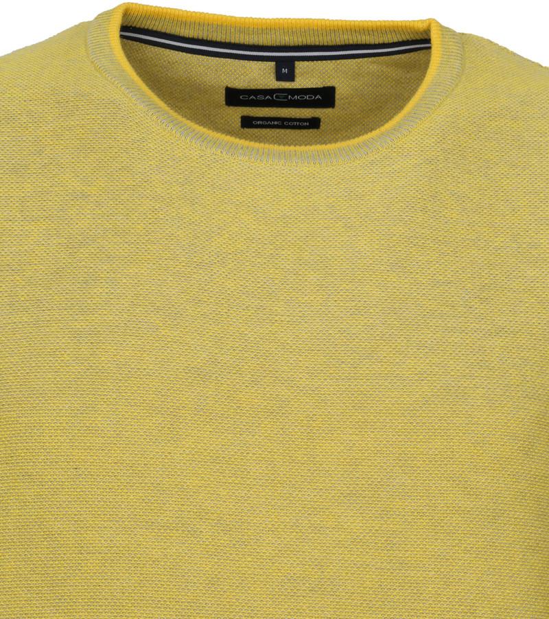 Casa Moda Pullover O-Hals Geel