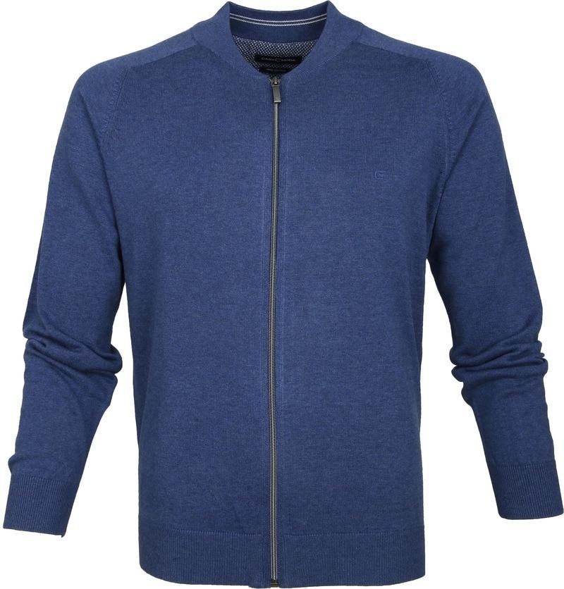 Casa Moda Vest Zip Blauw foto 0
