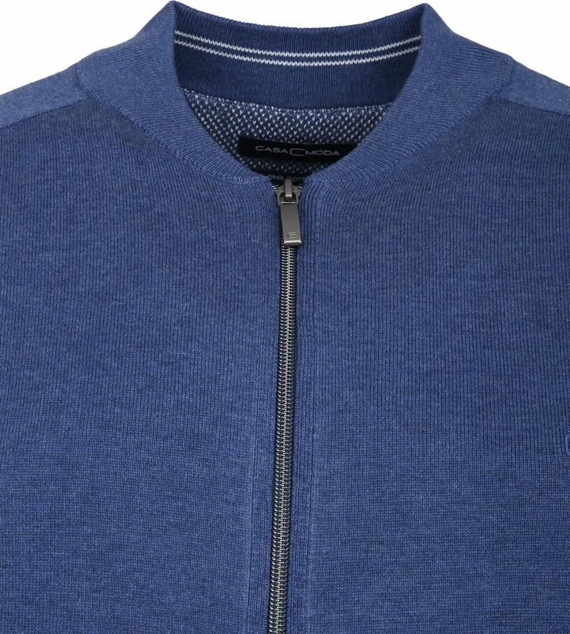 Casa Moda Vest Zip Blauw foto 1