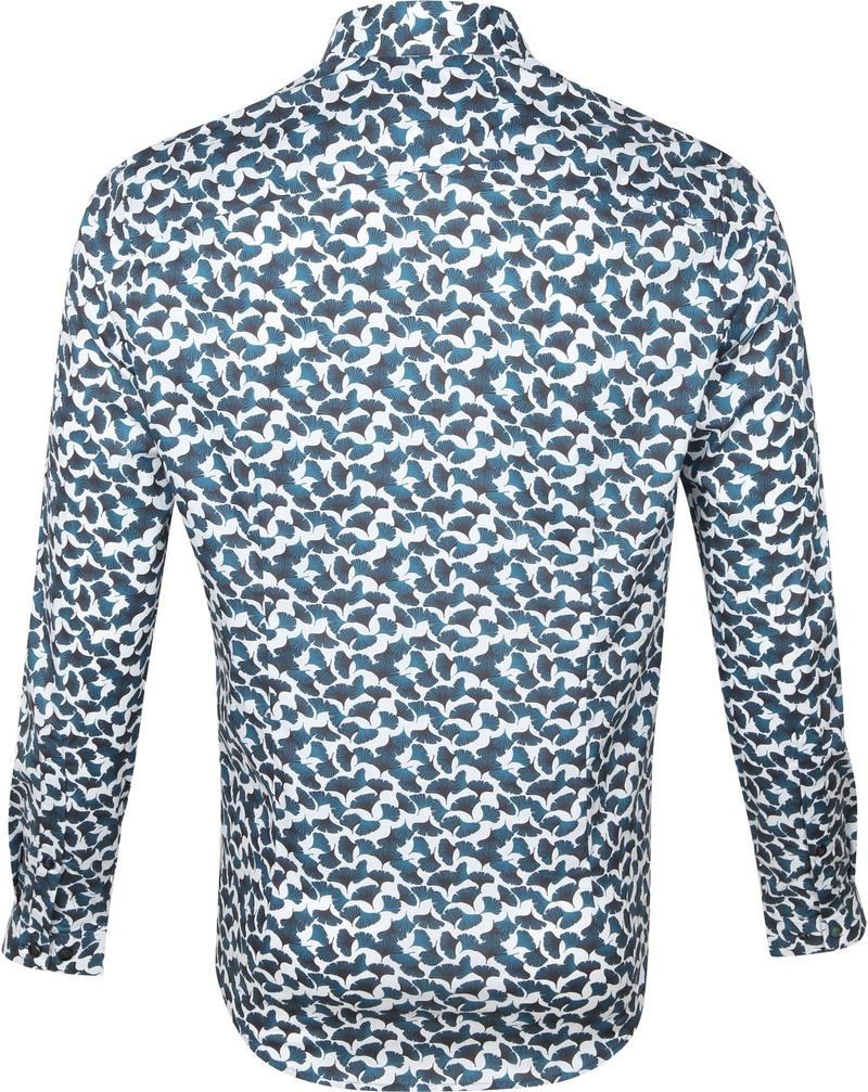 Cast Iron Overhemd Bloemen Donkergroen - Donkergroen maat XL