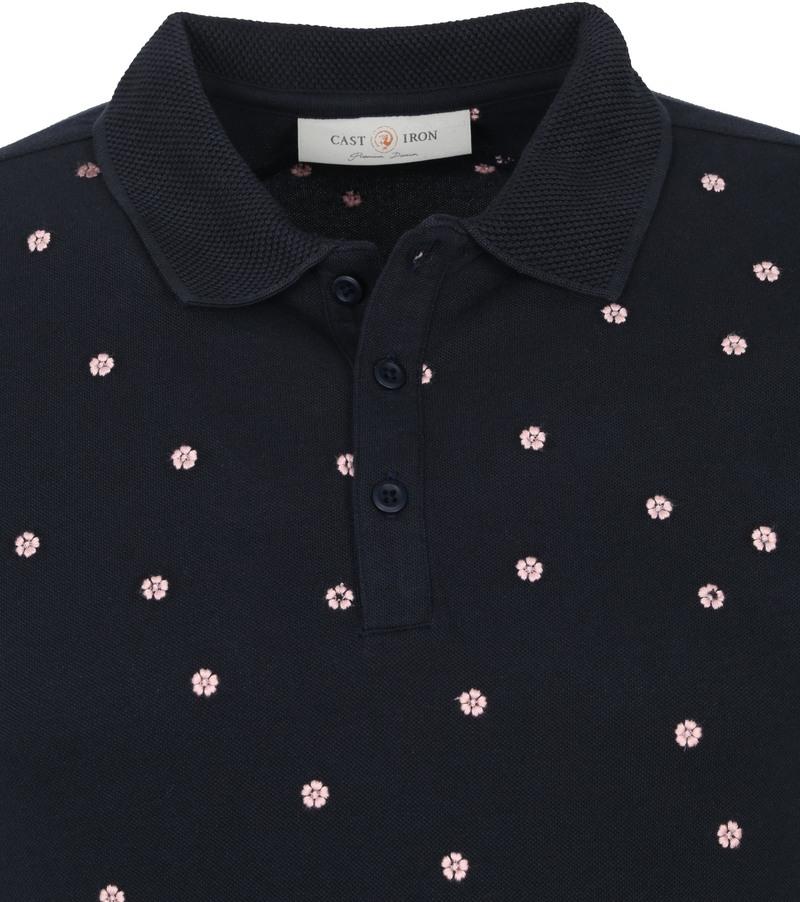 Cast Iron Polo Shirt Cherry Bloesem Donkerblauw