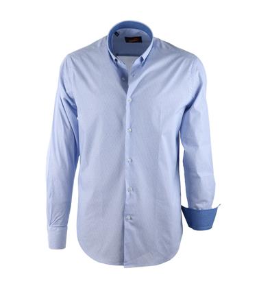 Casual Overhemd S2-1 Blauw Wit  online bestellen | Suitable