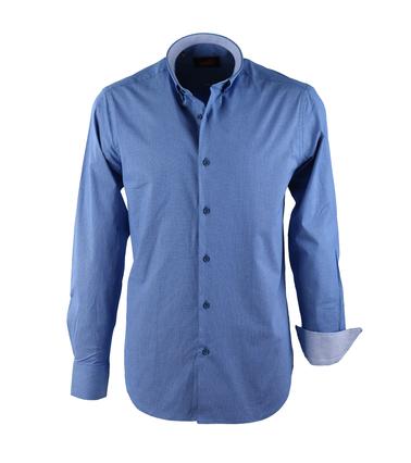 Casual Overhemd S2-2 Donker Blauw Wit  online bestellen | Suitable