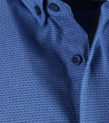Detail Casual Overhemd S2-2 Donker Blauw Wit