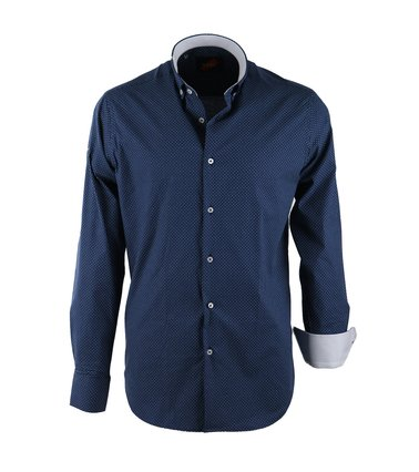 Casual Overhemd S2-7 Navy Groen  online bestellen | Suitable