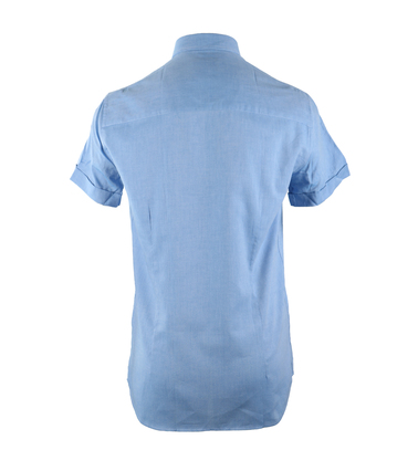 Detail Casual Overhemd S3-2 Blauw