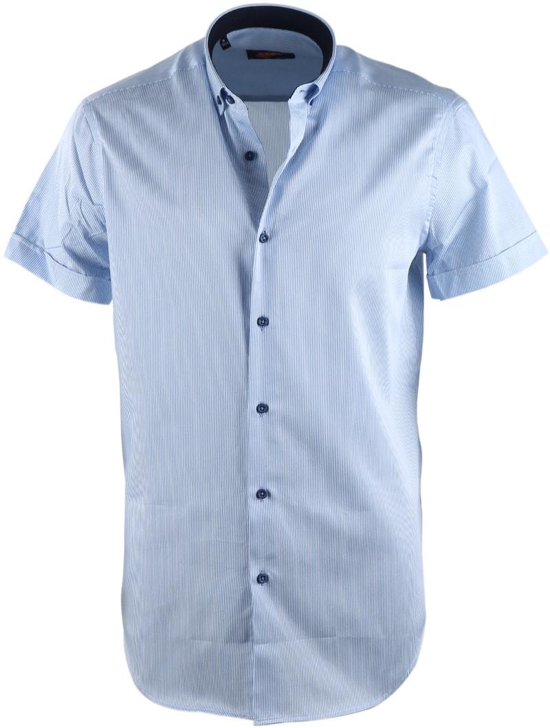 Casual Overhemd S3-5 Wit Blauw  online bestellen | Suitable