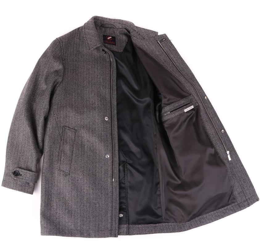 Coat Anthony Herringbone Grey photo 4