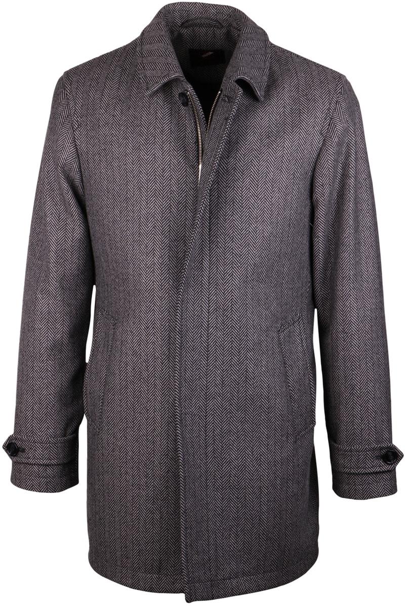 Coat Anthony Herringbone Grijs foto 0