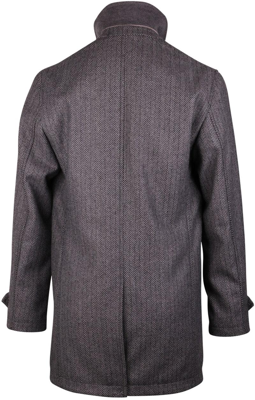 Coat Anthony Herringbone Grijs foto 1