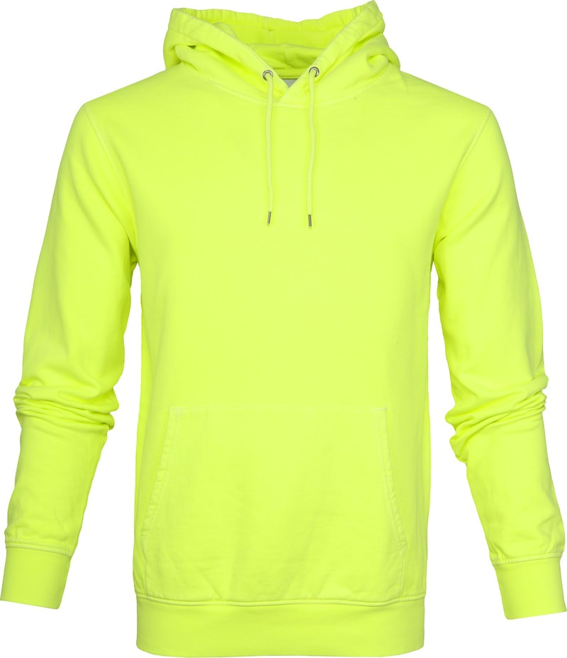 Colorful Standard Hoodie Neon Geel foto 0