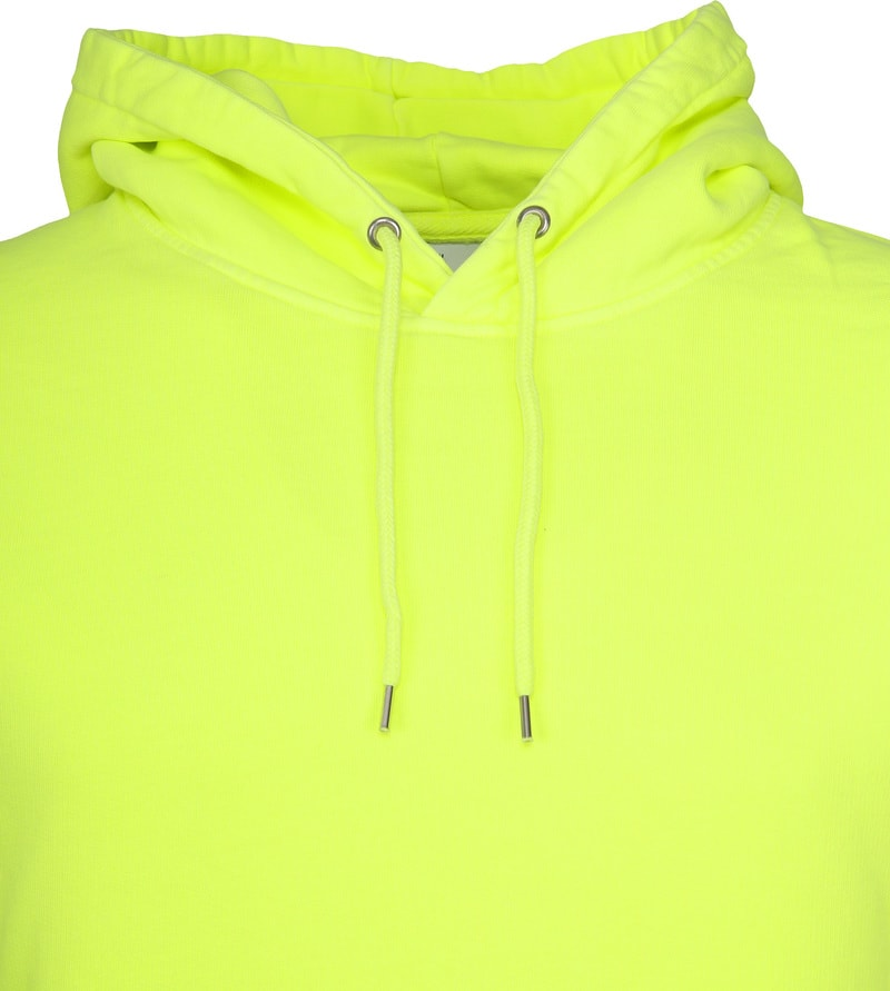 Colorful Standard Hoodie Neon Geel CS8006 Yellow online