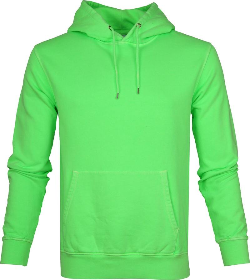 Colorful Standard Hoodie Neon Groen foto 0
