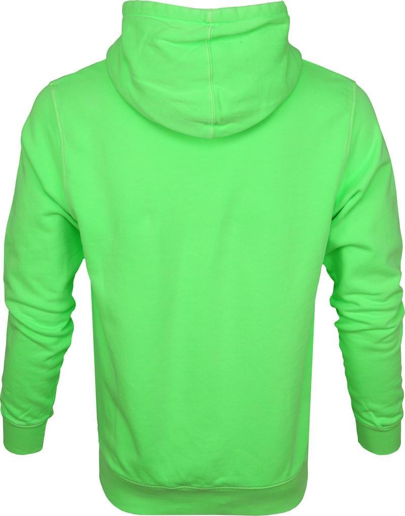 Colorful Standard Hoodie Neon Groen foto 3