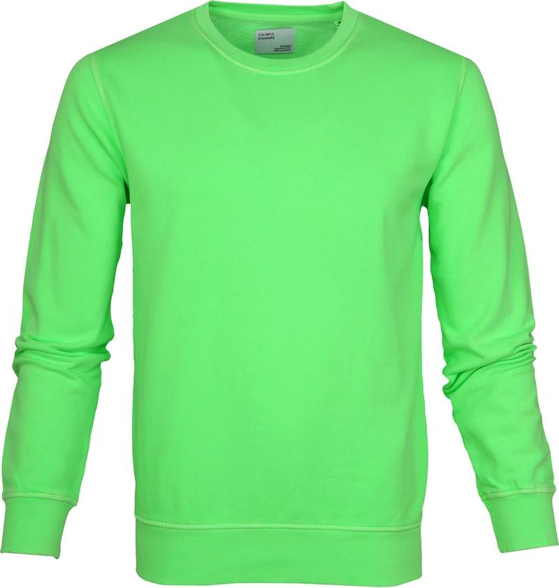 Colorful Standard Sweater Neon Groen foto 0