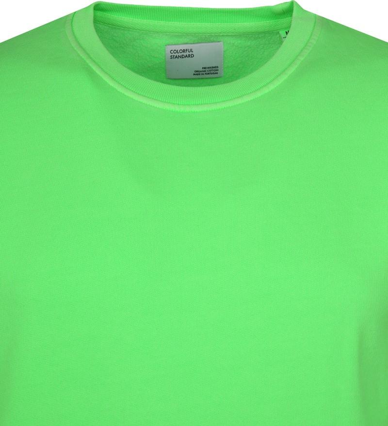 Colorful Standard Sweater Neon Groen foto 1