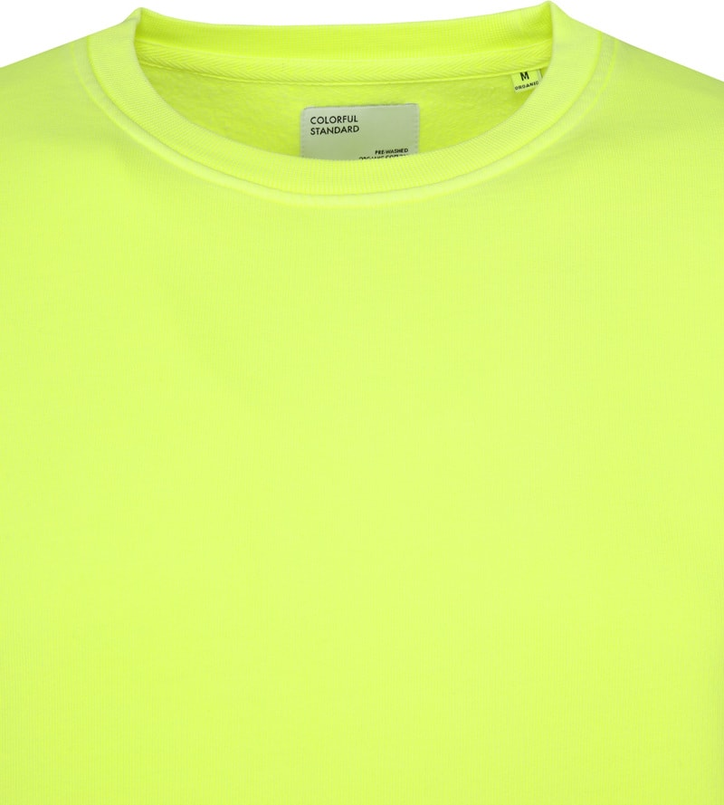 Colorful Standard Sweater Neon Yellow Foto 1