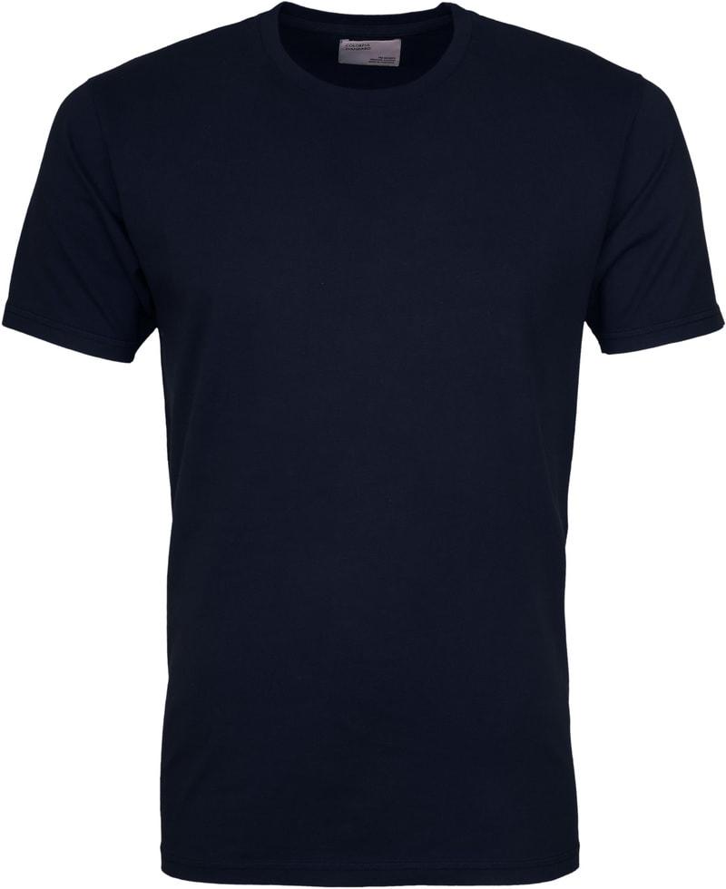 Colorful Standard T-shirt Navy Blue foto 0