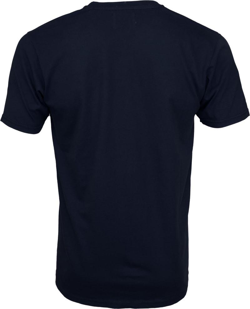 Colorful Standard T-shirt Navy Blue foto 2