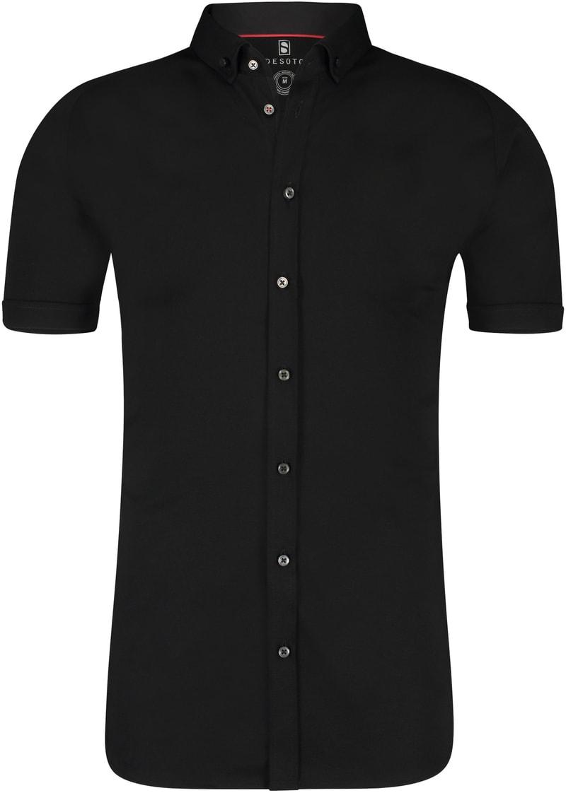 Desoto Hemd Korte Mouw Zwart 081