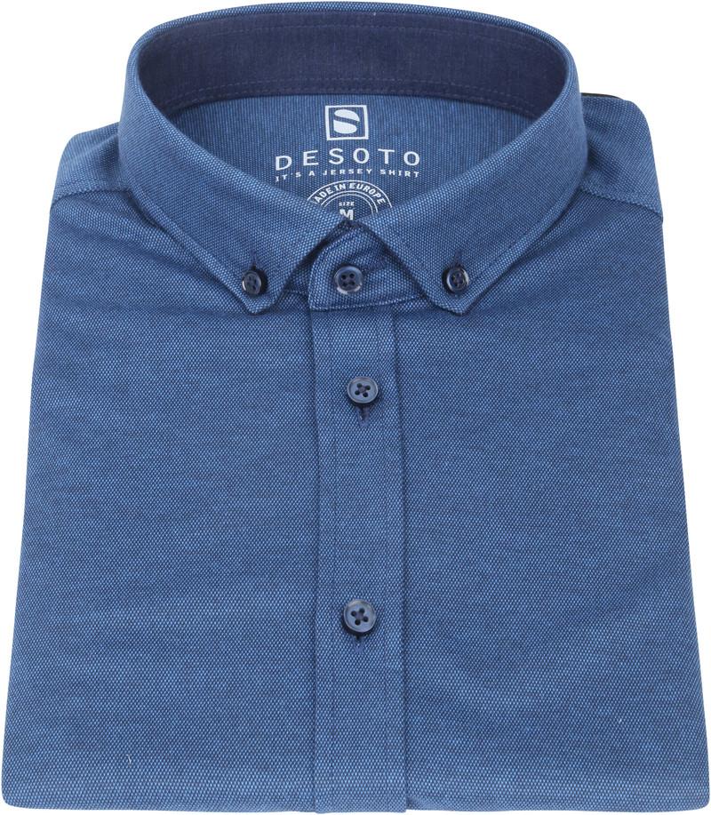 Desoto Modern SS Overhemd Indigo Blauw 511