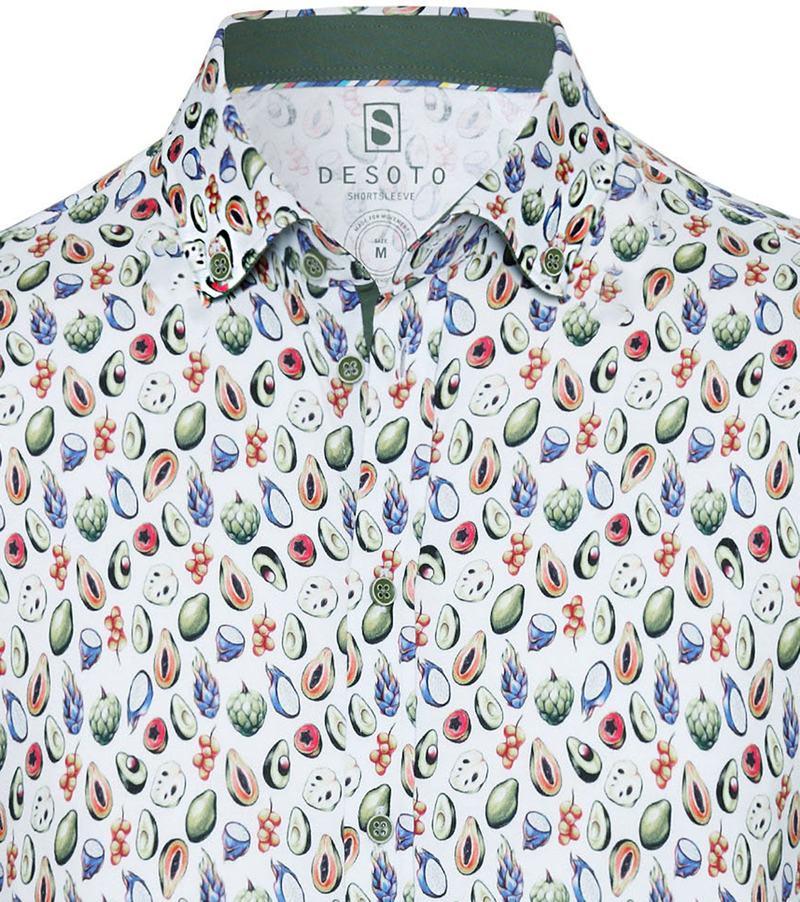 Desoto Overhemd Korte Mouw Bloem 978 foto 1