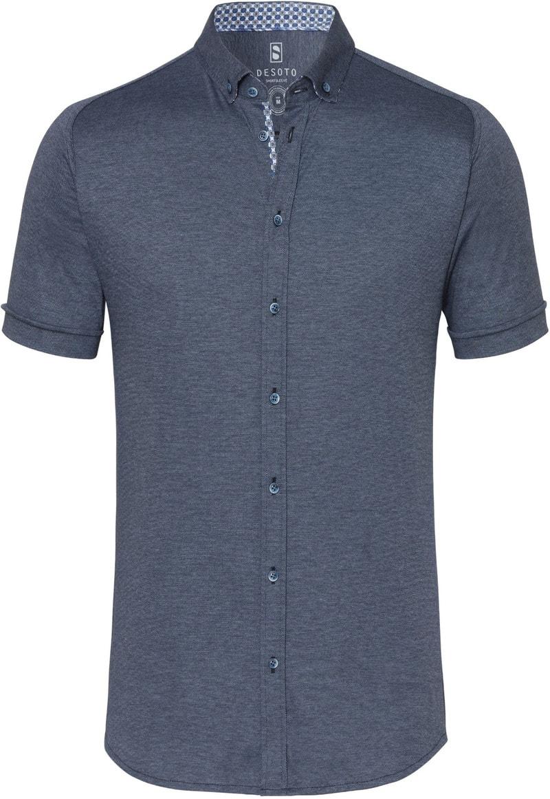 Desoto Overhemd Korte Mouw Donkerblauw 501 foto 0