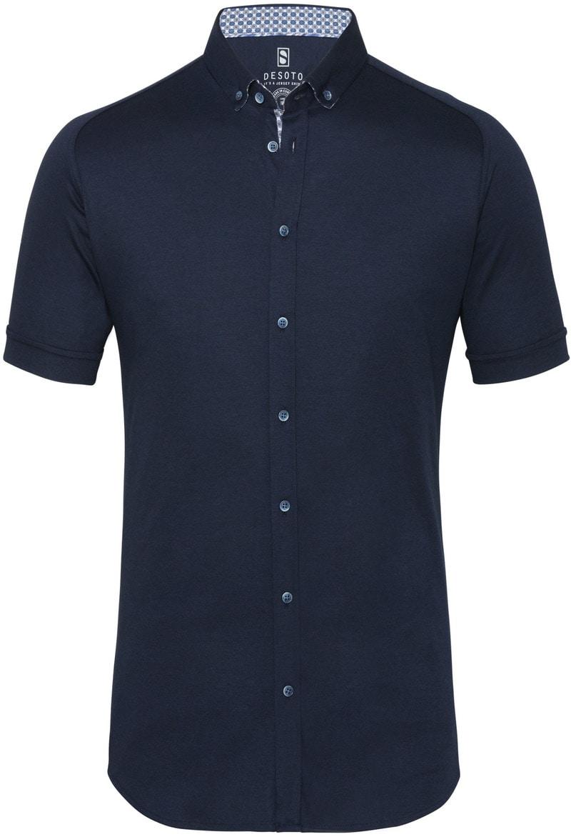Desoto Overhemd Korte Mouw Donkerblauw 512 foto 0