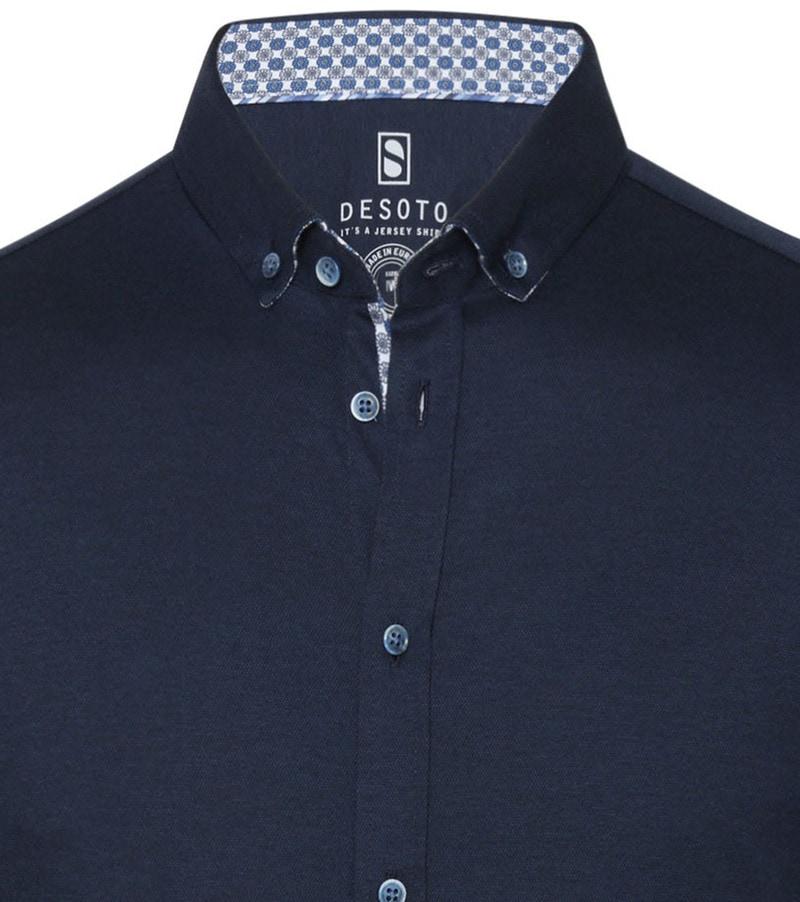 Desoto Overhemd Korte Mouw Donkerblauw 512 foto 1