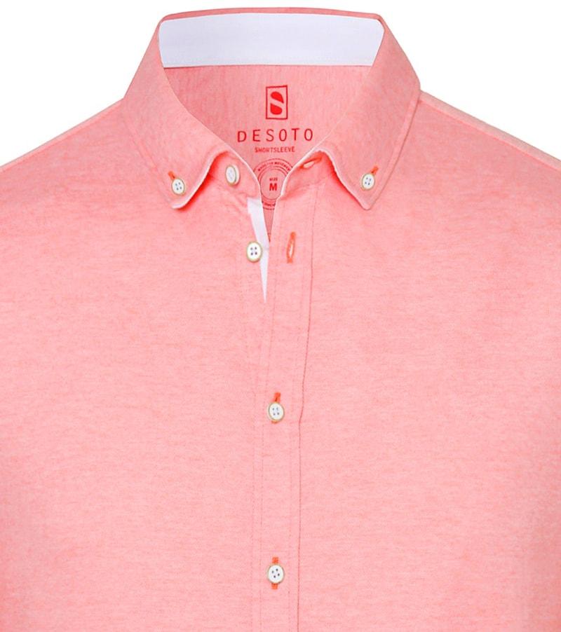 Desoto Overhemd Korte Mouw Rood 032 - Rood maat M