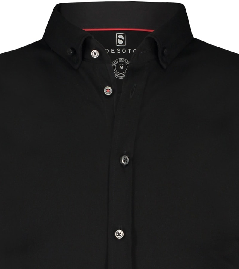 Desoto Overhemd Korte Mouw Zwart 081