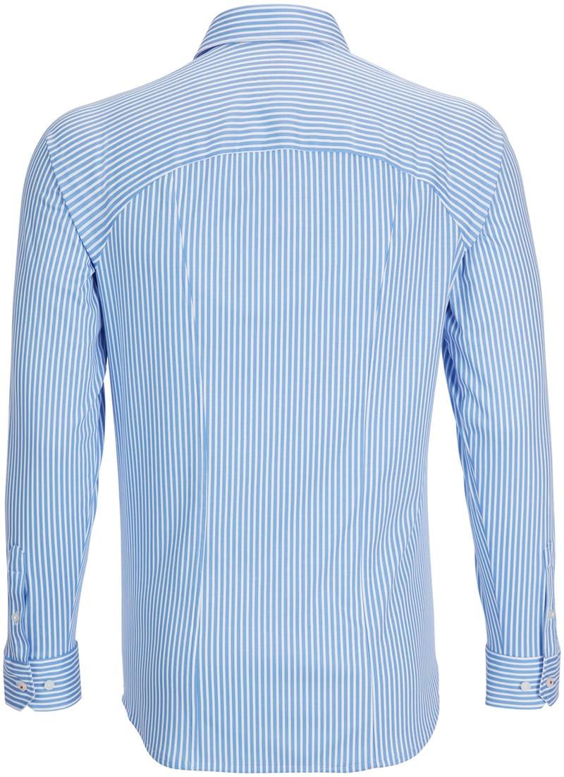 Desoto Overhemd Strijkvrij Blauw Streep foto 1