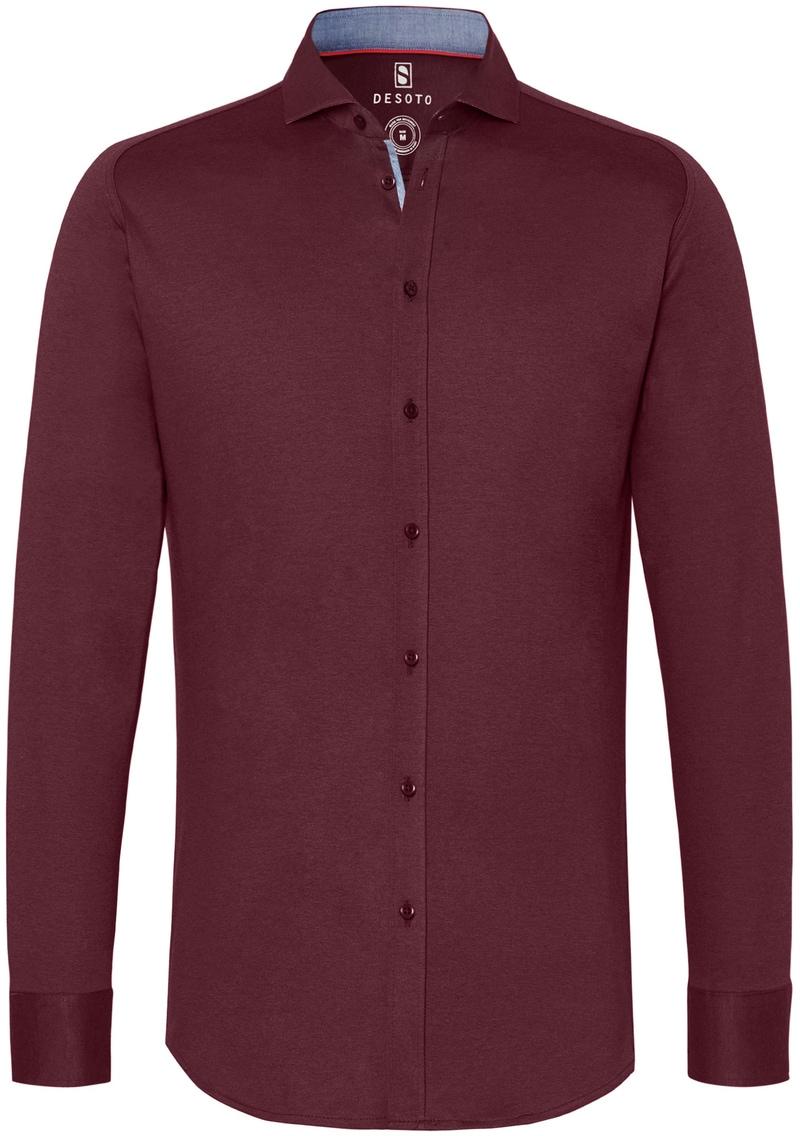 Desoto Overhemd Strijkvrij Bordeaux 301 foto 0