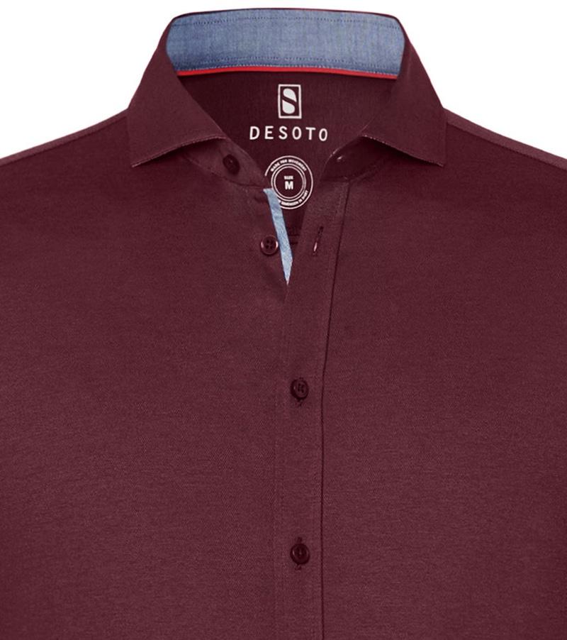 Desoto Overhemd Strijkvrij Bordeaux 301 foto 1