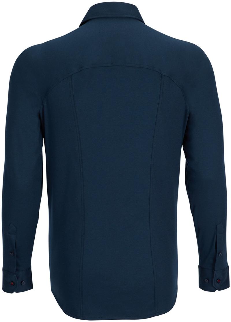 Detail Desoto Overhemd Strijkvrij Donkerblauw