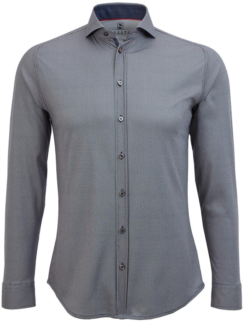 Desoto Overhemd Strijkvrij Donkerblauw Print  online bestellen | Suitable