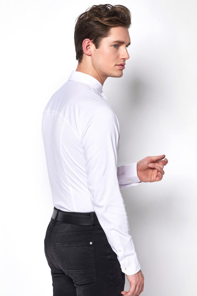 Desoto Overhemd Strijkvrij Modern Wit - Wit maat 3XL