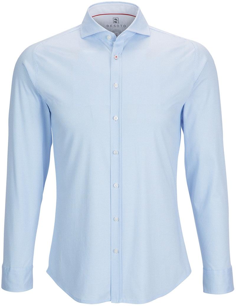 Desoto Overhemd Strijkvrij PDP Blauw foto 0