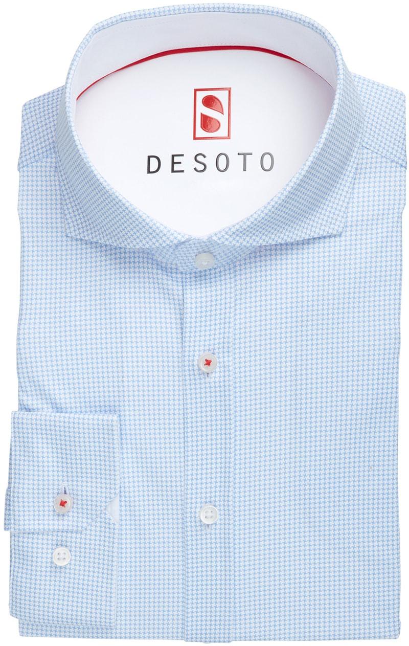 Desoto Overhemd Strijkvrij PDP Blauw foto 2