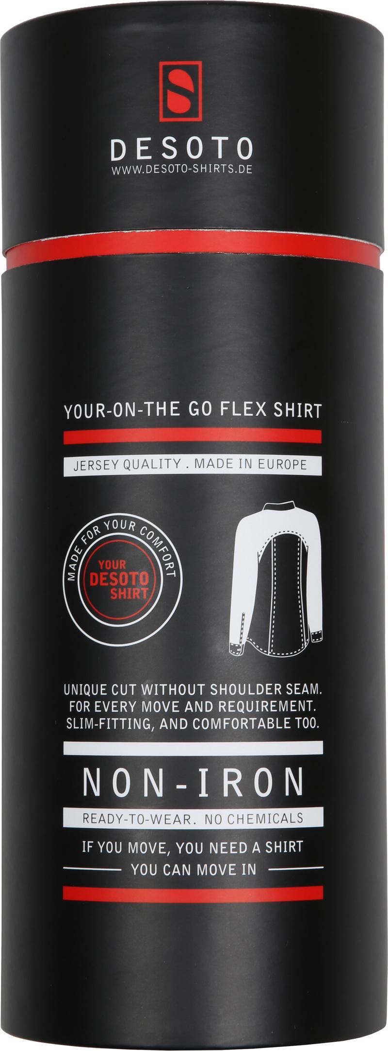 Desoto Shirt Non Iron Navy Oxford