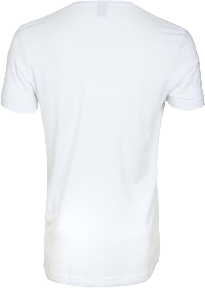 Diepe V hals 2-Pack Stretch Bamboe T-Shirt foto 2