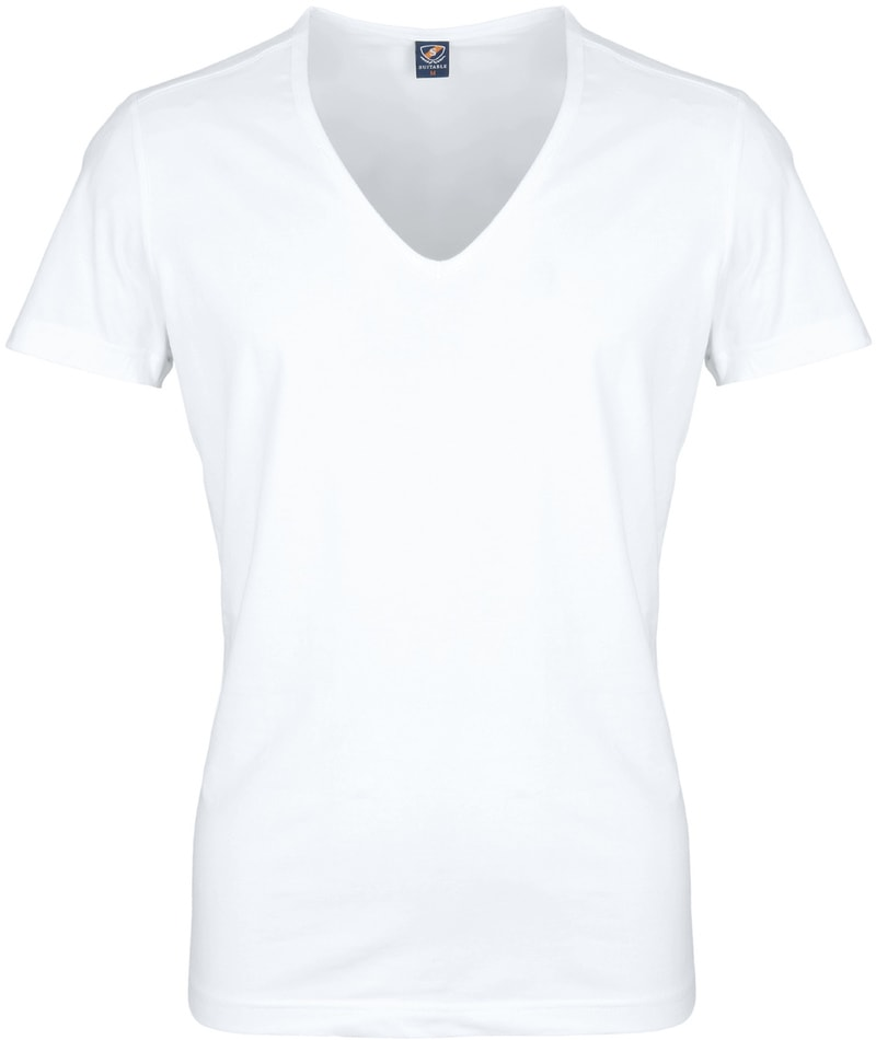 Diepe V hals 2-Pack Stretch T-Shirt foto 1