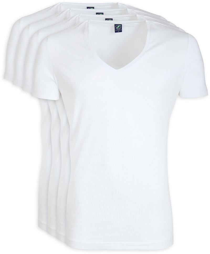 Diepe V hals 4-Pack Stretch Bamboe T-Shirt foto 0