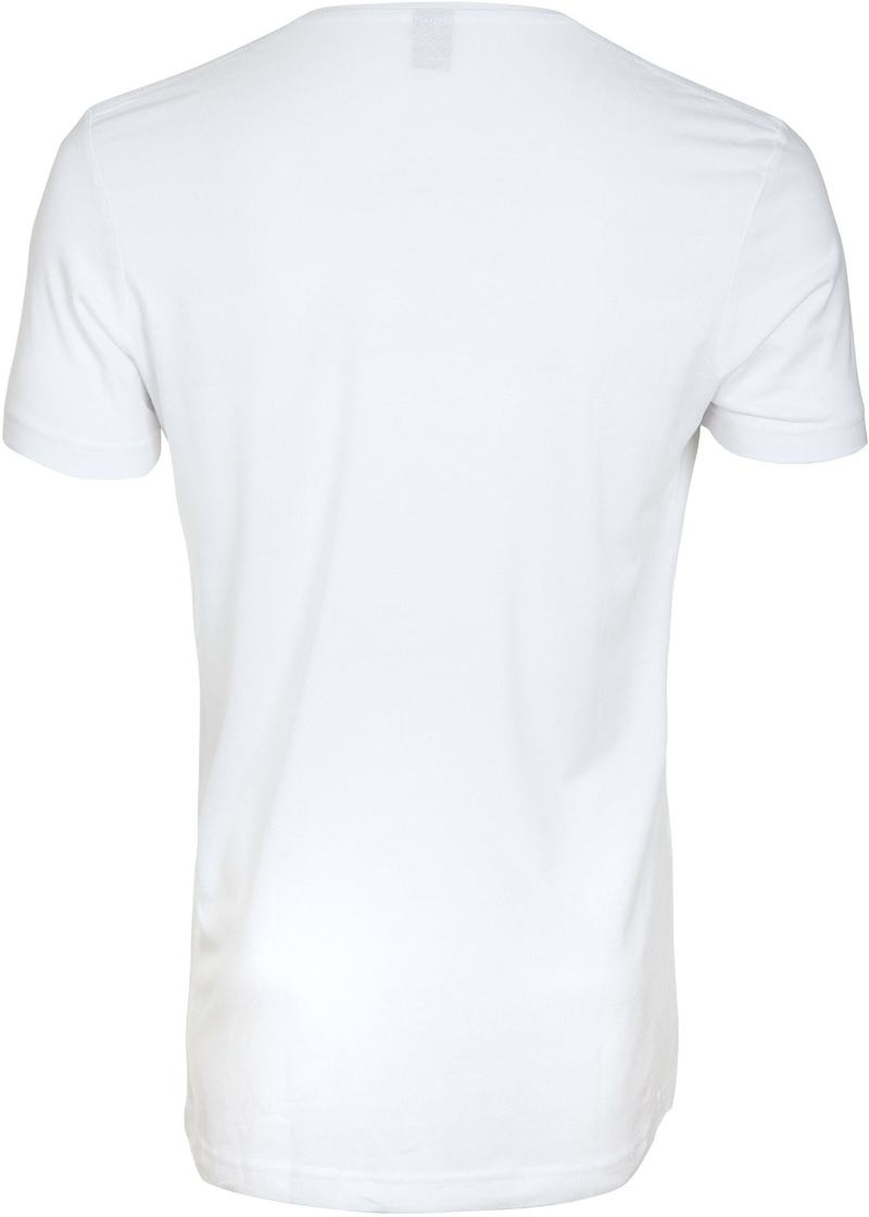 Diepe V hals 4-Pack Stretch Bamboe T-Shirt foto 2