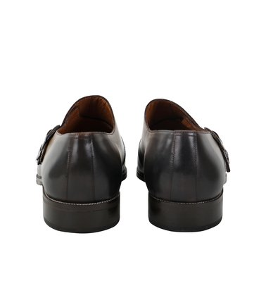 Double Monk Strap Leather Taupe photo 2