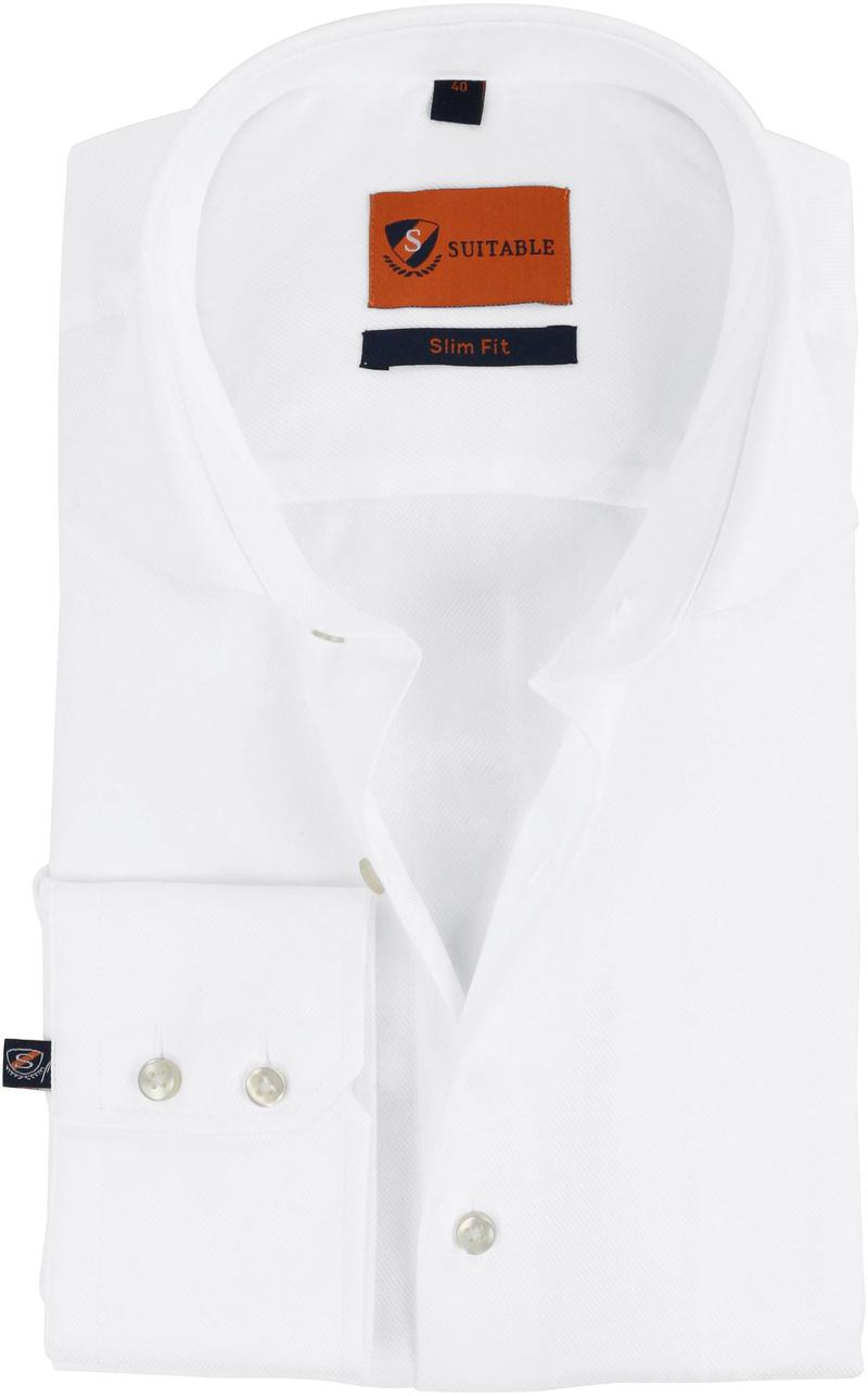 Dress Slim Fit White Twill foto 0