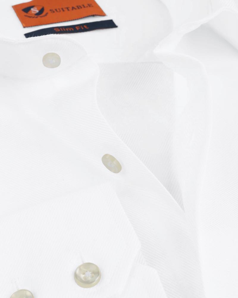 Dress Slim Fit White Twill foto 1