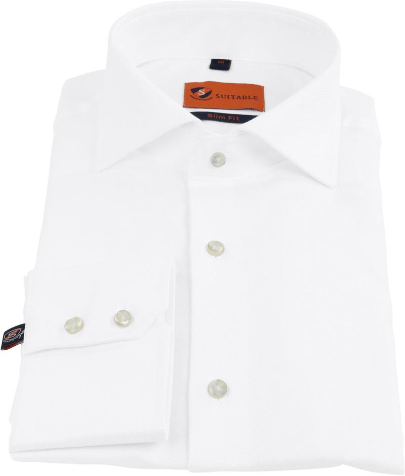Dress Slim Fit White Twill foto 2