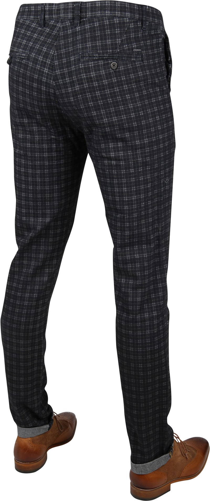 Dstrezzed Fancy Chino Tartan Navy foto 2