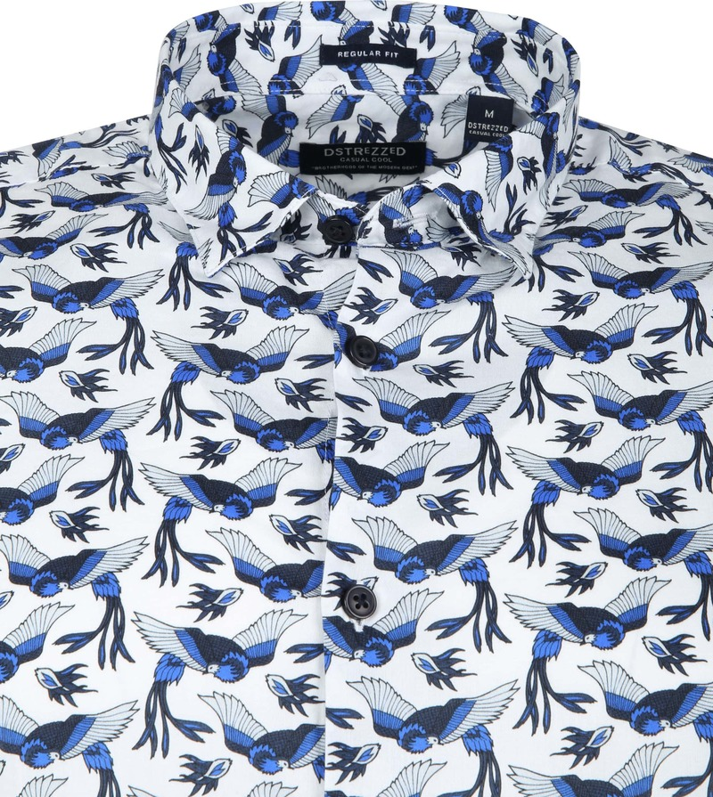 Dstrezzed Hemd Vogels Wit